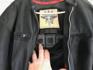 motorcycle jacket back pad